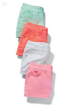Justice is your one-stop-shop for on-trend styles in tween girls clothing & accessories. Cute Girl Outfits, Cute Summer Outfits, Cute Casual Outfits, Dance Outfits, Kids Outfits, Tween Fashion, Fashion Outfits, Justice Shorts, Girls Denim Shorts