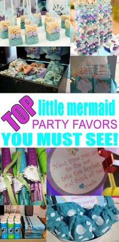 BEST Little Mermaid Party Favors Amazing Favor Ideas You Must See