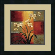 Framed Art Print 'White Orchid' by Jill Deveraux 16 x 16-inch | Overstock.com Shopping - The Best Deals on Framed Prints