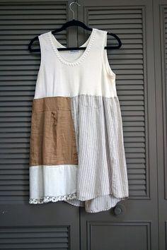 mori girl farmhouse west county dress tunic L XL by novelatelier, $44.00