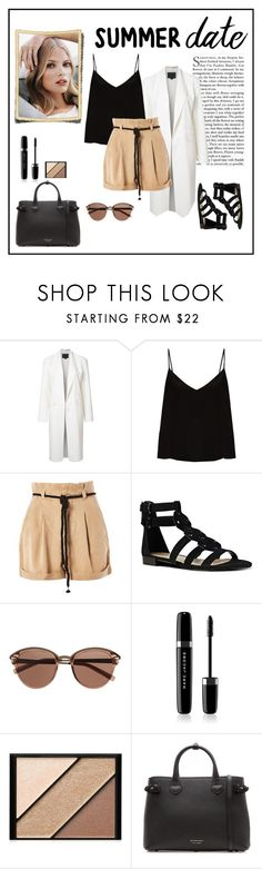 """Summer Date #1"" by juliamacieira ❤ liked on Polyvore featuring Tiffany & Co., Alexander Wang, Raey, Topshop, Nine West, Witchery, Marc Jacobs, Elizabeth Arden and Burberry"