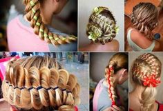 How to DIY Four Strand Ribbon Braid Hairstyle | iCreativeIdeas.com Follow Us on Facebook --> https://www.facebook.com/icreativeideas
