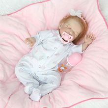 55cm Hot Sale Soft Silicone Reborn Cute soft Vinyl Dolls Alive For Kids Children Toys With Clothes Gift Best Playment(China)