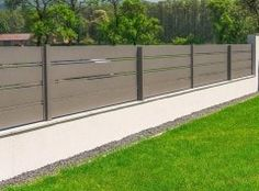 XCEL Fences | Solid Grey | Modern Fences | Bielsko-Biała House Gate Design, Door Gate Design, Garage Door Design, Modern Fence Design, Fence Gate, Outdoor Decor, Door Types, Home Decor, Modern Houses