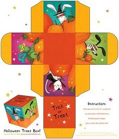 Halloween pattern box template to download. There are a few other free designs to choose on this site.