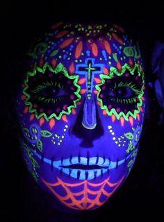 glow in the dark sugar skull makeup