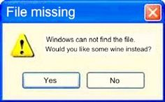 windows cannot find the file. Would you like some wine instead?