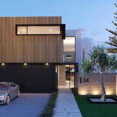 """51 inspiring residential architecture building for you 12 inspiring residential architecture building for you 12 > Fieltro.Net""""> inspiring residential architecture building for you 12 > Fieltro. House Cladding, Exterior Cladding, Facade House, Modern House Facades, Modern House Design, Box House Design, Plans Architecture, Architecture Design, Modern Residential Architecture"""