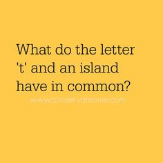 """Brain Teaser: The letter """"T"""" and an island have something in common.Answer is in the Comments. Riddles Kids, Mind Riddles, Riddles To Solve, Funny Riddles, Jokes And Riddles, Funny Jokes For Kids, Kid Jokes, Logic Puzzle Games, Logic Puzzles"""