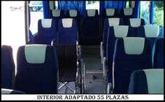 Interior Autocar 55 plazas Adaptado