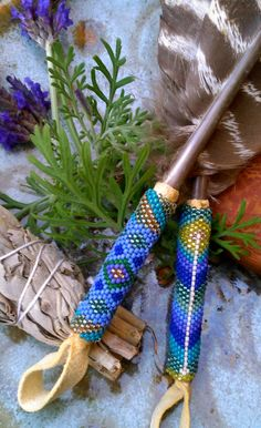 Custommade Smudge Feather by CeremonialFeathers on Etsy, $95.00