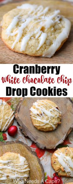 Cranberry White Chocolate Chip Drop Cookies are perfect for holiday cookie exchanges. Easy to make Christmas cookies that even Santa will love. #cookies #baking #holidaycookie #holidaybaking #cookieexchange #cookieswap #cranberry #cranberries #whitechocolate #easyrecipes #dessert