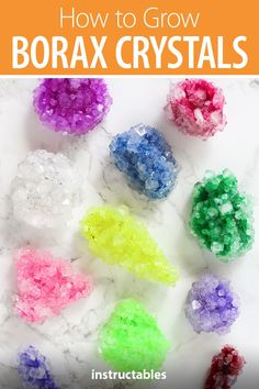 How to Grow Borax Crystals : Growing Borax crystals is a fun science experiment that you can do easily and cheaply at home! In this instructable, I'll teach you how to grow your own beautifully colored borax crystals using pipe cleaners as a base. The pipe cleaners allow large …