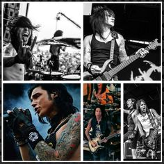 BLACK VEIL BRIDES ~ Warped tour 2015