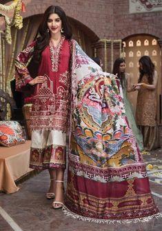 Pakistani Suits Aarzoo Festive Collection Anaya By Kiran Chauhdry Pakistani Lawn Suits, Pakistani Designer Suits, Pakistani Dress Design, Pakistani Dresses, Pakistani Clothing, Pakistani Jewelry, Indian Suits, Indian Sarees, Pakistani Fashion Casual