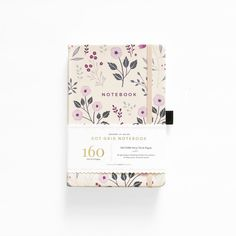 Bullet Journal New Zealand and Australia - archer and olive dotted bullet journal notebook painted flowers Dot Grid Notebook, Bullet Journal Notebook, Bullet Journal Layout, Bullet Journals, Dotted Bullet Journal, Cute Notebooks, Cute Stationery, Stationary, Print Patterns