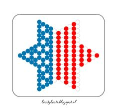 Beady Beads - Star 3a. Perler / Hama / Fusion / Melty / Pyssla Beads. Free Pattern Card! Visit my blog for more free patterns.