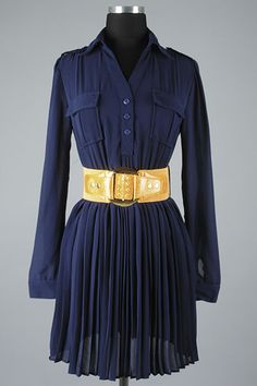 Jade Mackenzie - Navy Sheer Button Down Dress with Belted Accent., $36.00 (http://www.jademackenzie.com/navy-sheer-button-down-dress-with-belted-accent/)