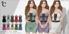 C - Group Gift (VIP) Mesh dress Francy - Multi texture | Flickr - Photo Sharing!