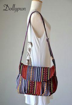Nepali hippie style handbag, Cross body bag, Boho, Bohemian bag, Shoulder bag, Sling bag, Messenger bag, Purse MO930 on Etsy, $16.82 CAD
