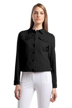 great alternative to a regular denim jacket. Tan Blazer, Knit Blazer, Casual Blazer, Heels Outfits, Black Denim, Casual Tops, Clothing Ideas, Khaki Pants, Alternative