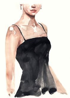Fashion Illustration on Behance Illustration Mode, Fashion Illustration Sketches, Art Drawings Sketches, Watercolor Paintings For Beginners, Watercolor Portraits, Watercolor Sketch, Watercolor Illustration, Arte Sketchbook, Watercolor Fashion