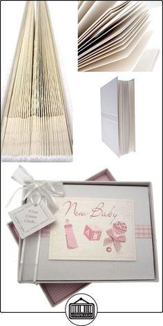 White Cotton Cards - Álbum de fotos de bebé (tamaño pequeño), color rosa  ✿ Regalos para recién nacidos - Bebes ✿ ▬► Ver oferta: http://comprar.io/goto/B006G780VM