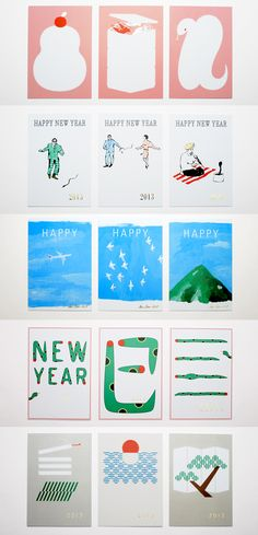 D-BROS new year card - trojna ilustracija na kartici