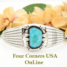 Four Corners USA Online - Fox Mountain Turquoise Cuff Bracelet Artisan Dean Sandoval Native American Indian Silver Jewelry, $209.00 (http://stores.fourcornersusaonline.com/fox-mountain-turquoise-cuff-bracelet-artisan-dean-sandoval-native-american-indian-silver-jewelry/)