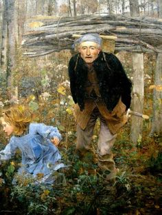 FRENCH PAINTERS: Jules BASTIEN-LEPAGE The Wood Gatherer 1881