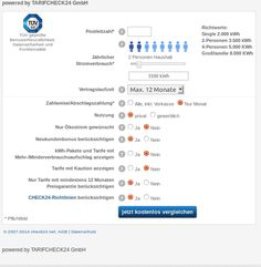 Informationen von shopinwebkatalog.de: Strompreise