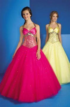 Halter Floor-length Sleeveless Yellows Sweet 16 #Dress Style Code: 00935 $189