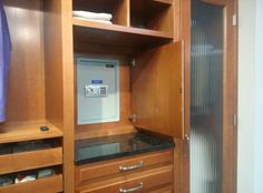 Help dad feel like #007 with this built-in safe behind his closet mirror!