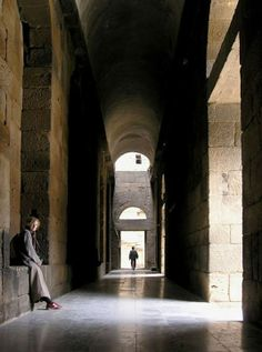 back stage, roman theatre, bosra|Syria