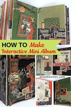 Make an interactive mini album with flaps, pockets,mini books and inserts. Fill your mini album with moving parts for super fun and amazing effect! Notebook Covers, Journal Covers, Book Journal, Journal Ideas, Disney Scrapbook, Scrapbook Albums, Scrapbooking, Bookbinding Tutorial, Up Book
