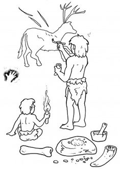 History For Kids, Art History, Free Coloring Pages, Coloring Books, Visual Perceptual Activities, Stone Age Art, Art Rupestre, Cave Drawings, Art Station