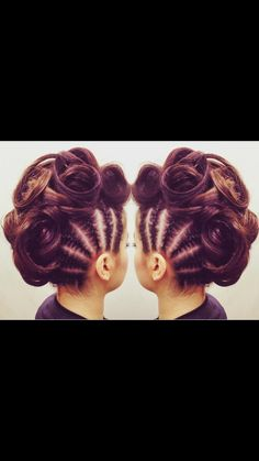 Braided Mohawk, swirls, braids, updo, hairup, funky, punk, trendy, fashion