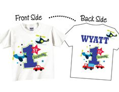 1st Birthday Shirts or Any Birthday for Boys with por TheCuteTee