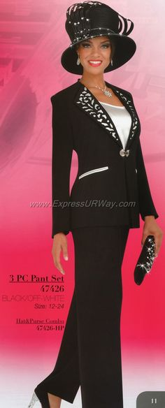 48926ad0aba Ben Marc Three piece womens pant suit features a 27 inch jacket and 42 inch  pants.