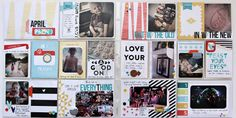 Pocket Pages created by Scraptastic Kit Club DT Member Carol Monson with the This Life Noted kit