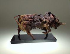 Rage. Bull Sculpture. 2015 Eamonn Higgins #bullsculpture #steelsculpture