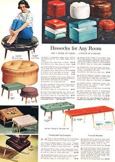 MCM foot stools