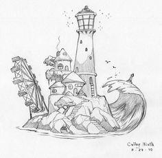 Lighthouse Scene by ColbyBluth on DeviantArt
