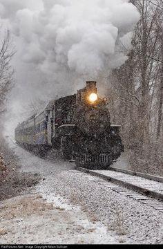 VALE 40 Valley Railroad Steam at Chester, Connecticut by Adam Sullivan Train Art, Old Trains, Train Pictures, Train Engines, Train Journey, Model Train Layouts, Steam Engine, Steam Locomotive, Train Tracks