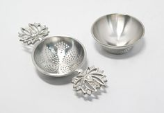Handmade Pewter Lotus Tea Strainer TS016 by TITASY on Etsy