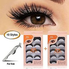 cc71465ccc9 MAGEFY 10 Pairs Fake Eyelashes Reusable 3D Handmade False Eyelashes Set for  Natural Look with False