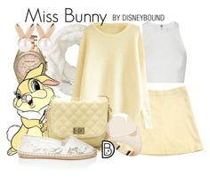 """Miss Bunny"" by leslieakay ❤ liked on Polyvore featuring JET, Giorgio Armani, Michael Kors, Elizabeth and James, River Island, Aamaya by priyanka, StyleRocks, disney and disneybound"