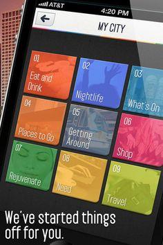 Navigations | Mobile Tuxedo  #ui  #squares