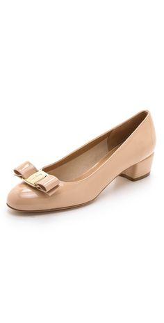 1fc6a608a9 Salvatore Ferragamo Vara Low Heel Pumps Low Heel Shoes, Low Heels, Pump  Shoes,