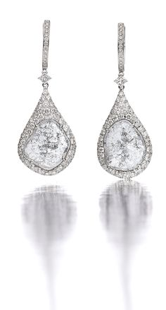 Diamond slice earrings. uhh... amazing